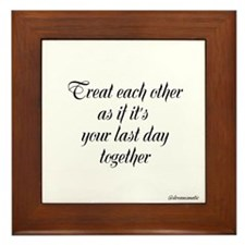Framed Tile ~Treat each other~