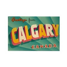 Vintage Touristic Greeting Card - Rectangle Magnet