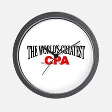 """""""The World's Greatest CPA"""" Wall Clock"""