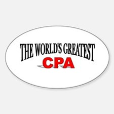 """The World's Greatest CPA"" Oval Decal"