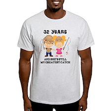 32nd Anniversary Mens Fishing T-Shirt