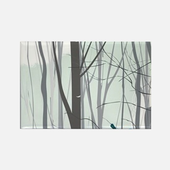 Christmas tree in the forest - Rectangle Magnet