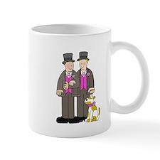 Two grooms and a dog. Small Mug