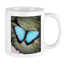 Blue Butterfly on Lily Pad Mug
