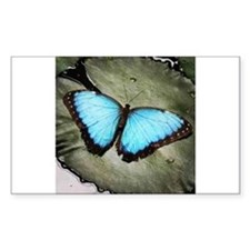 Blue Butterfly on Lily Pad Decal