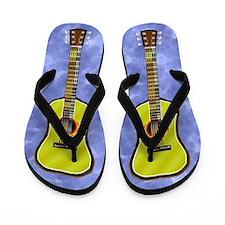 Acoustic Guitar Flip Flops - Distressed