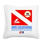 Dive California Square Canvas Pillow