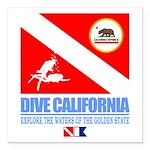 Dive California Square Car Magnet 3