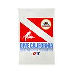 Dive California Rectangle Magnet (10 pack)