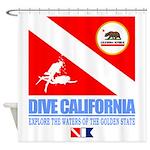 Dive California Shower Curtain