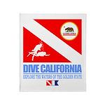 Dive California Throw Blanket