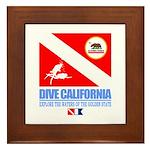 Dive California Framed Tile