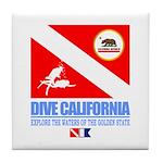 Dive California Tile Coaster