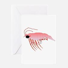 Pink Krill Greeting Card