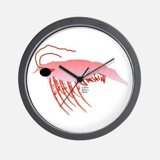 Pink Krill Wall Clock