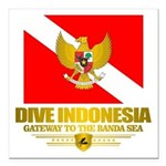 Dive Indonesia Square Car Magnet 3