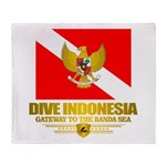 Dive Indonesia Throw Blanket