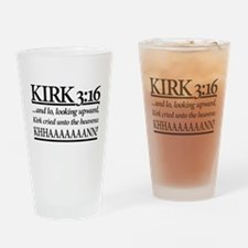 Kirk 3:16 - Star Trek Khan Drinking Glass