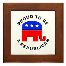 Proud Republican Framed Tile
