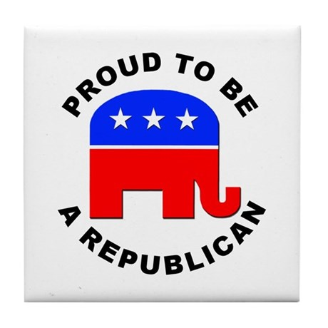 Proud Republican Tile Coaster