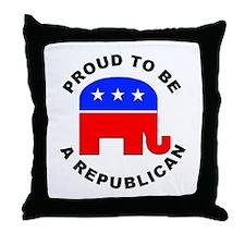 Proud Republican Throw Pillow