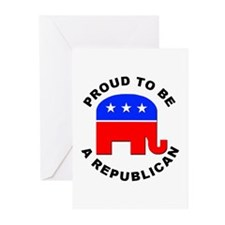 Proud Republican Greeting Cards (Pk of 10)
