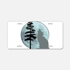 wolfmoongray.png Aluminum License Plate