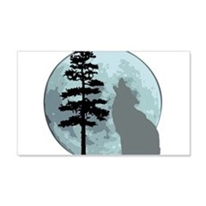 wolfmoongray.png Wall Decal