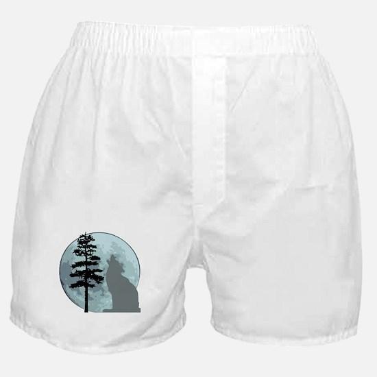 wolfmoongray.png Boxer Shorts