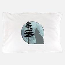 wolfmoongray.png Pillow Case