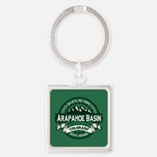 Arapahoe Basin Forest Square Keychain
