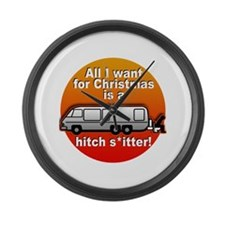 I Want a Hitchshitter Large Wall Clock