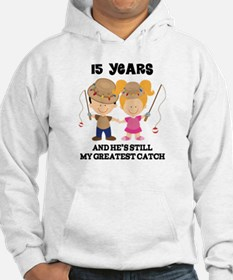 15th Anniversary Hes Greatest Catch Jumper Hoody