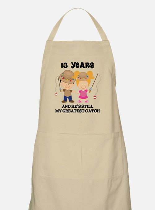 13th Anniversary Hes Greatest Catch Apron