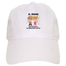13th Anniversary Hes Greatest Catch Baseball Cap