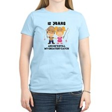 12th Anniversary Hes Greatest Catch T-Shirt