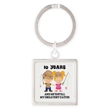 10th Anniversary Hes Greatest Catch Square Keychai