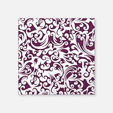 """Alyssum & White Swirls #2 Square Sticker 3"""" x 3"""""""