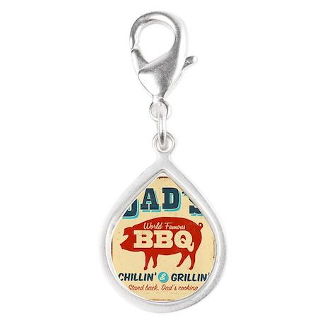 Vintage metal sign - Dad's - Silver Teardrop Charm