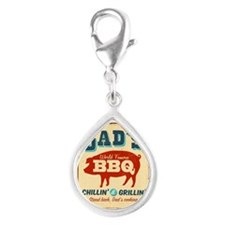 Vintage metal sign - Dad's - Silver Teardrop Charm
