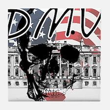 DMV Skull Design Tile Coaster