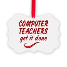 Computer Teachers Ornament