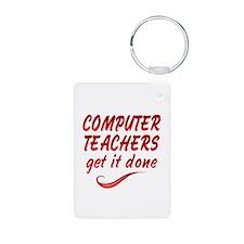 Computer Teachers Aluminum Photo Keychain