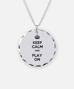 Keep Calm and Play On Necklace