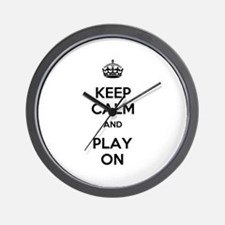 Keep Calm and Play On Wall Clock