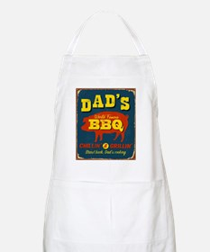 Vintage metal sign - Dad's BBQ - Raster Ve - Apron