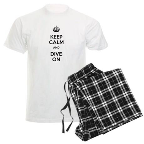 Keep Calm Dive On Men's Light Pajamas