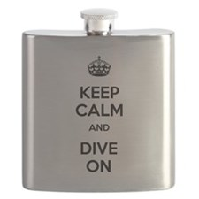 Keep Calm Dive On Flask