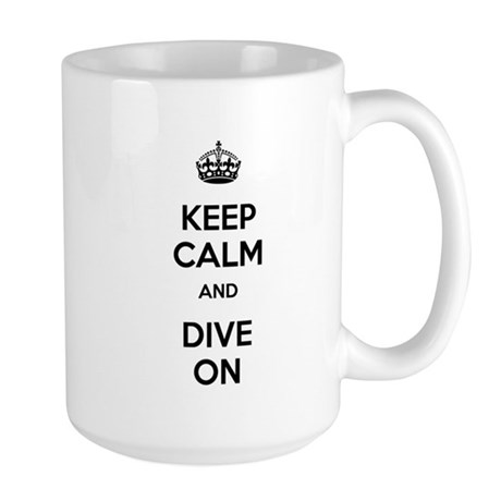 Keep Calm Dive On Large Mug