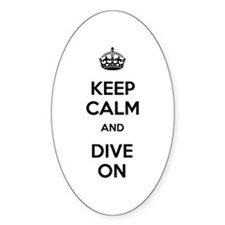 Keep Calm Dive On Decal